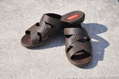 The most comfortable shoes--the cross straps.