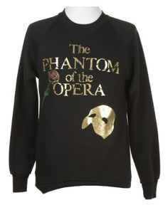 The Phantom of the Opera Black Sweatshirt   Sweats & Hoodies   Rokit Vintage Clothing