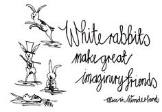 Printed Illustration - White Rabbits by Keri Muller (www.simpleintrigue.com) on Etsy, $10.00 (unframed)