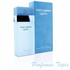 LIGHT BLUE D&G: La fragancia se lanzó en el año 2001. Familia olfativa: Floral frutal. Este perfume realza la alegría de vivir la vida mediterránea. Con su aroma fresco y floral-afrutado, muy femenino, nos traslada a esos días de verano soleados de nuestro mediterráneo. Esta esencia refleja a la mujer moderna de hoy en día.