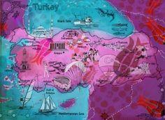 Artist map of Turkey