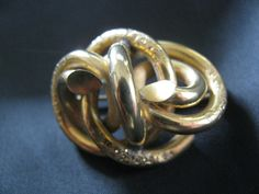 Victorian Love Knot  Brooch 1860  1880 by victoriansentiments, $55.00