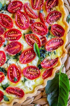 Cherry Tomato, Leek, and Spinach Quiche - The Food Charlatan