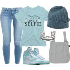 A fashion look from July 2015 featuring Frame Denim jeans, NIKE shoes and Closed hats. Browse and shop related looks.