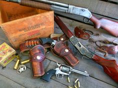 Our guns for Cowboy Action Shooting!