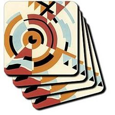 Amazon.com: Circles in Abstract - Set Of 4 Coasters - Soft: Kitchen & Dining
