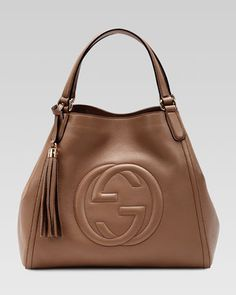 Soho Leather Shoulder Bag, Brown by Gucci at Neiman Marcus.