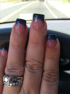 Gonna do this when we have the wedding ceremony!  Thin blue line nails, have to honor the hubs!!