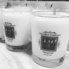 So proud to be the maker of @thefryecompany exclusive candle. #leatherandwhiskey #candle #AmericanMade