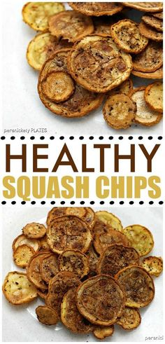 Squash chips are a healthy alternative to regular chips and they pack a ton of flavor. You won't have to feel guilty about eating all of them! | Persnickety Plates
