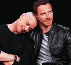 And, of course, when they had this lovely little cuddle.   19 Times James McAvoy And Michael Fassbender Gave Us Intense Friendship Goals