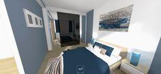 Notre #architecte #interieur à #Paris réalise la conception #3D d'une chambre parentale et de son dressing dans une ambiance contemporaine.