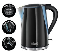 Buy Russell Hobbs Mode Illuminating Cordless Black Kettle 21400 at Argos.co.uk, visit Argos.co.uk to shop online for Kettles, Kitchen electricals, Home and garden