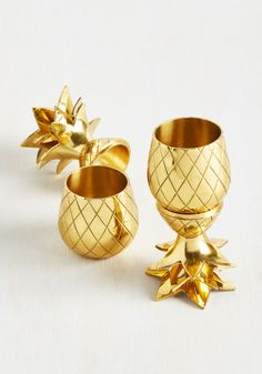 Cocktail Me Everything Shot Glass Set. Lots to catch up on? #gold #wedding #modcloth