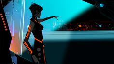 """Ep103_Sc.141(b) - by Neil C. Ross --- done for the animated TV series """"Tron Uprising"""""""