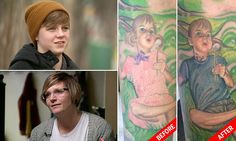Mother of trans teen has tattoo changed after he comes out to family