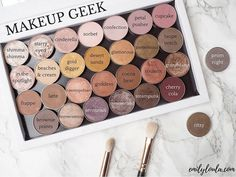 Today's post is all about my Makeup Geek shadows I've swatched and reviewed them all individually on emilyloula.com (clickable link in bio). Definitely my favourite eyeshadows of all time! #bbloggers #makeupgeek #custompalette @makeupgeekcosmetics
