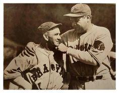 """A Pair Of Baseball's Veterans""   Rabbit Maranville & Babe Ruth Get Chummy (Newark, N.J. - April 7, 1935)"