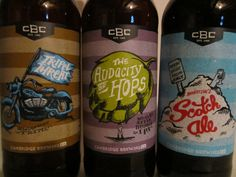 Cambridge Brewing's similar designs using different graphics and colors.