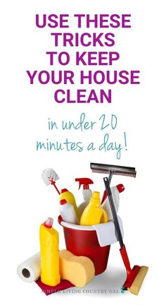 Are you tired of spending your weekends cleaning your entire house? Here are my best tips for Cleaning hacks you need to know. Simple house cleaning tips. Hate to clean try this. Home cleaning tips and tricks. Easy cleaning ideas. how to keep a clean house in under 20 minutes a day. No more spending your Saturdays inside scrubbing floors!  #cleaning #cleanhouse #homemaking #cleaninghacks #slcg Simple House, Simple Living, Clean House, Declutter Your Home, Organizing Your Home, Organizing Tips, House Cleaning Tips, Cleaning Hacks, Cleaning Routines
