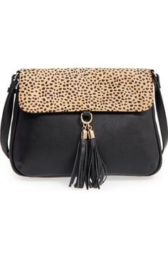 Sole Society 'Noble' Faux Leather & Genuine Calf Hair Shoulder/Crossbody Bag available at #Nordstrom