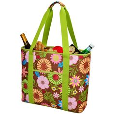 Picnic at Ascot Insulated Cooler Tote Bag - Floral - 421-F