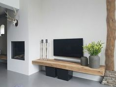 Wooden board nice as TV furniture but where does the DVD player come from? - Home Decoraiton Wooden board nice as TV furniture but where does the DVD player come from? Home Living Room, Room Design, Cool Rooms, Living Room Decor, Home Decor, House Interior, Home Deco, Room Decor, Home And Living