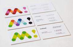 Pentagram Mohawk business cards / branding design