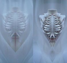 'Reveal the Inner Self.' Wei Ting Liang. Sculptural, skeletal fashion