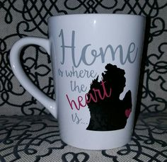 Home Is Where The Heart Is mug van E3DesignsCo op Etsy