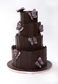 chocolate butterfly wedding cake