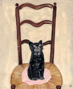 'Cat on a Chair' by Sanyu (1933)