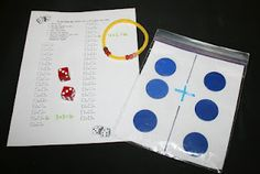 Classroom Freebies: Addition and Subtraction Dice Games