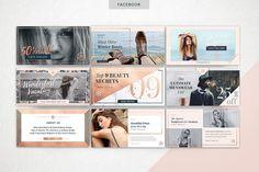ROSE GOLD Theme | Social Media Pack - Web Elements - 10
