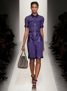 Spring Summer 2012 Bottega Veneta Ready to Wear runway look...love this summery grape color & the style of this dress