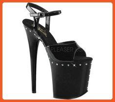 Pleaser Women's Flamingo-809ABLS Sandal, Black Patent/Black, 8 M US - Sandals for women (*Amazon Partner-Link)