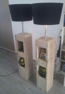 Pallet Lamps  -  #palletprojects  ---  #pallets   ----   http://alittlebitofthisthatandeverything.blogspot.com/