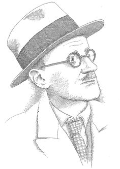 James Joyce par Pierre Le-Tan