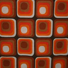geometric : op-inspired 70s Pattern Fabric