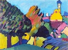 Wassily Kandinsky (1866-1944), Murnau, 1908 on ArtStack #wassily-kandinsky-1866-1944 #art