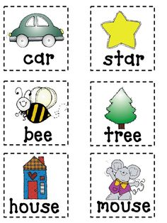 Rhyming Flash Cards Printable | Found on docs.google.com
