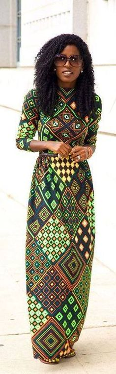 African inspaired modest dress