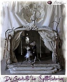 Meas Vintage, Fairy Houses, Doll Houses, Gothic Windows, Shabby, Witch Spell, Living Room Designs, Living Rooms, Paper Clay