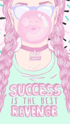 success is the best revenge shirt, drawing of a girl, iphone backgrounds, rose coloured braids Cute Iphone Wallpaper Tumblr, Beste Iphone Wallpaper, Cute Wallpaper For Phone, Wallpaper Iphone Disney, Cute Wallpapers, Iphone Wallpapers, Handy Wallpaper, I Wallpaper, Wallpaper Backgrounds