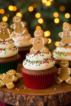 Gingerbread Cupcakes with Cream Cheese Frosting - WomansDay.com