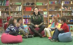 Tom Hiddleston as #Loki on #Comedy Central (October, 2013)