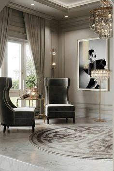 Dream House Interior, Luxury Homes Interior, Living Room Interior, Living Room Decor, Interior Design London, Decor Interior Design, Best Modern House Design, Small Room Decor, Elegant Living Room