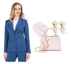 YOKKO Spring Office Outfit by yokko-the-fashion-store on Polyvore featuring Ella Rabener and Yvonne Léon.  #yokkoromania #spring2016 #fashion #ss16 #madeinromania #officeoutfit #feminity #office #blazer