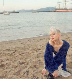 Evil Twin Archaic Knit Eyelash coat, available at shopblacksalt.com, $118. Super cozy...!