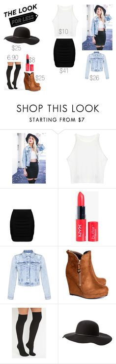 """""""The Look for Less: Denim Edition"""" by ayannap ❤ liked on Polyvore featuring Zizzi, Miss Selfridge, Alice & You, Forever 21 and Charlotte Russe"""